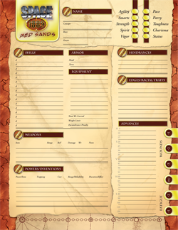 space: 1889: red sands: character: sheet:
