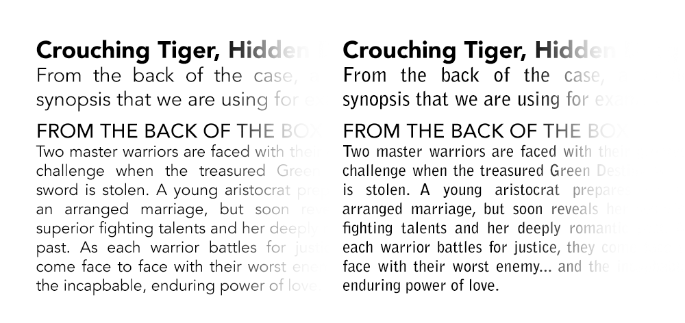 Choosing Typefaces for Layout | denagh design